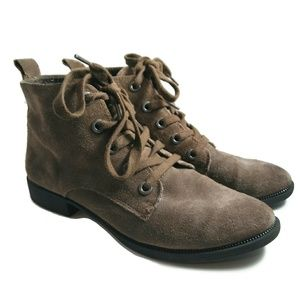 Sam Edelman Circus Charlie Lace Up Suede Booties 7